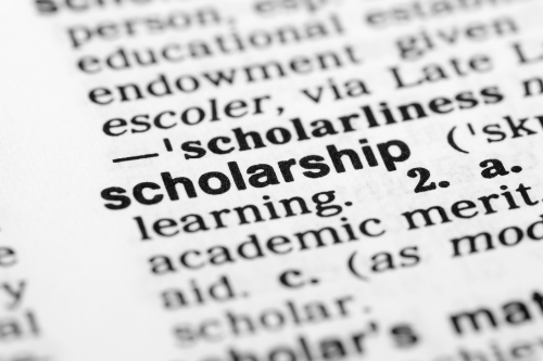 The definition of a scholarship
